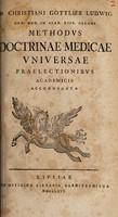 view Methodus doctrinae medicae universae praelectionibus academicis accomodata