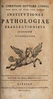 view Institutiones pathologiae praelectionibus academicis accomodatae
