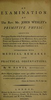 view An examination of Mr. John Wesley's Primitive physic