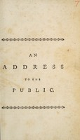 view An address to the public [on premature death and interment]
