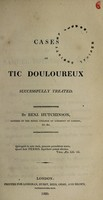 view Cases of tic doloureux successfully treated