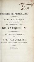 view Séance publique du 21 avril 1830, en commémoration de Vauquelin : notice historique sur N.-L. Vauquelin