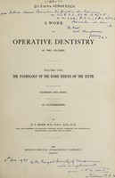 view A work on operative dentistry ...