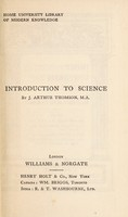 view Introduction to science