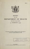 view Report of the Department of Health