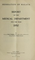 view Annual report of the Medical Department / Federation of Malaya.