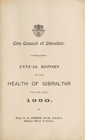 view Annual report on the health of Gibraltar.