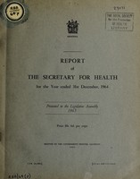 view Report of the Secretary of Health