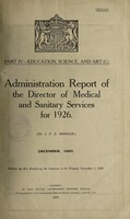 view Report of the Director of Medical and Sanitary Services / [Ceylon].