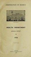 view Report of the Health Officer, Corporation of Madras Health Department.