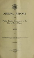 view Annual report of the Public Health Department of the City of Port-of-Spain.