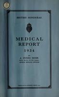 view Medical report / British Honduras.