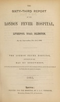 view Report of the London Fever Hospital, Liverpool Road, Islington, for the year ending 31st December 1864.