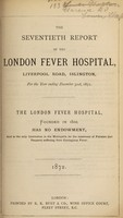 view Report of the London Fever Hospital, Liverpool Road, Islington, for the year ending 31st December 1871.