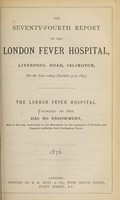 view Report of the London Fever Hospital, Liverpool Road, Islington, for the year ending 31st December 1875.