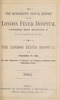 view Report of the London Fever Hospital, Liverpool Road, Islington, for the year ending 31st December 1901.