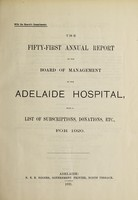 view Annual report of the Board of Management of Adelaide Hospital with a list of subscriptions, donations, etc : 1920.