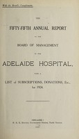 view Annual report of the Board of Management of Adelaide Hospital with a list of subscriptions, donations, etc : 1924.