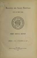 view Annual report : 1902 / Bellevue and Allied Hospitals.