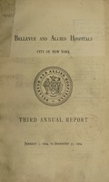 view Annual report : 1904 / Bellevue and Allied Hospitals.
