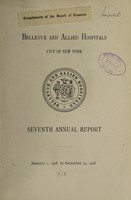 view Annual report : 1908 / Bellevue and Allied Hospitals.