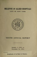 view Annual report : 1911 / Bellevue and Allied Hospitals.