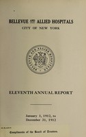 view Annual report : 1912 / Bellevue and Allied Hospitals.