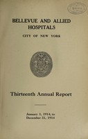 view Annual report : 1914 / Bellevue and Allied Hospitals.