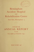 view Annual report : 1944 / Birmingham Accident Hospital and Rehabilitation Centre.