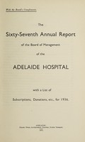 view Annual report of the Board of Management of Adelaide Hospital with a list of subscriptions, donations, etc : 1936.