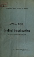 view Annual report of the Medical Superintentendent : 1941 / Burnley Joint Hospital Board.