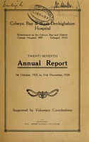 view Annual report : 1926