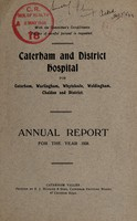 view Annual report /Caterham and District Hospital : 1938.