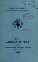 view Annual report of the Springfeld Hospital Management Committee : 1949 / Springfield Hospital..