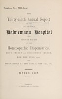 view Annual report of the Liverpool Hahnemann Hospital and ... Homoeopathic Dispensaries : 1926.