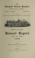 view Annual report : 1928 / Liverpool Stanley Hospital.