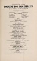 view Annual report : 1943 / Manchester and Salford Hospital for Skin Diseases.