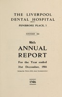 view Annual report : 1946 / Liverpool Dental Hospital.