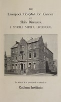 view Annual report : 1928 / Liverpool Hospital for Cancer and Skin Diseases.