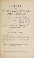 view Report of the City of Glasgow Fever and Smallpox Hospitals : 1896.