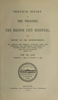 view Report of the trustees of the City Hospital, Boston : 1893/94.