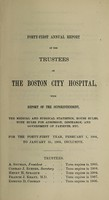 view Report of the trustees of the City Hospital, Boston : 1904/05.