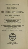 view Report of the trustees of the City Hospital, Boston : 1909/10.