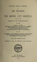 view Report of the trustees of the City Hospital, Boston : 1913/14.