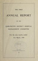 view Annual report of the Darlington District Hospital Management Committee : 1948/49.