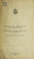 view Progress report of the Medical Officer of Health to 30th September, 1925